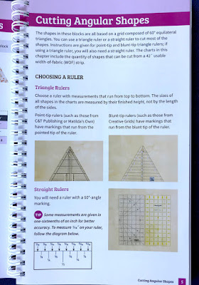 a page giving instructions for how to cut triangles from fabric for quilting