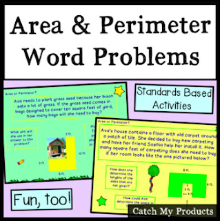 Area and Perimeter Word Problem lesson on PowerPoint