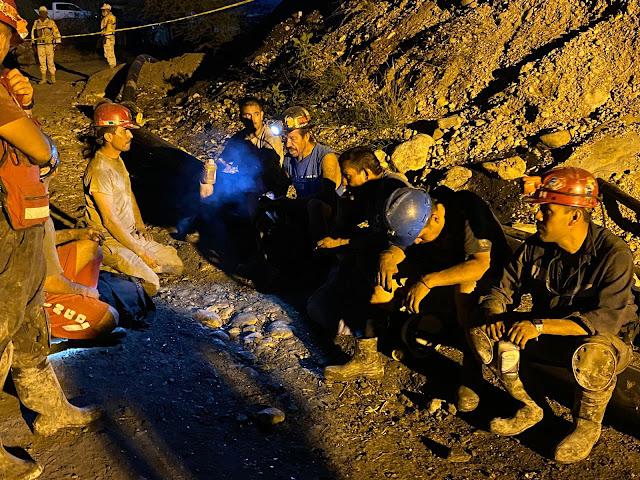 Coordinación entre autoridades permite concluir rescate de mineros en Múzquiz, Coahuila