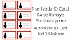 Automatic ID Cards in one Click in Photoshop with Variables