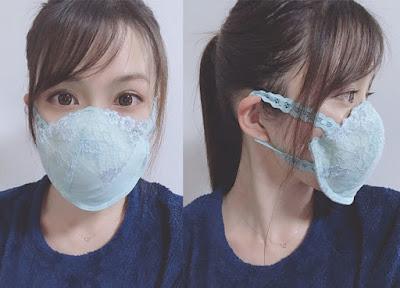 como transformar um sutiã velho em uma máscara