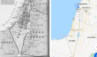 Israel Palestine old map
