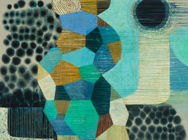 "Claire B Cotts, ""Comet (eclipse)""   obras de arte abstracto organico contemporaneo, pinturas abstractas, imagenes   art selecta pictures inspiration"