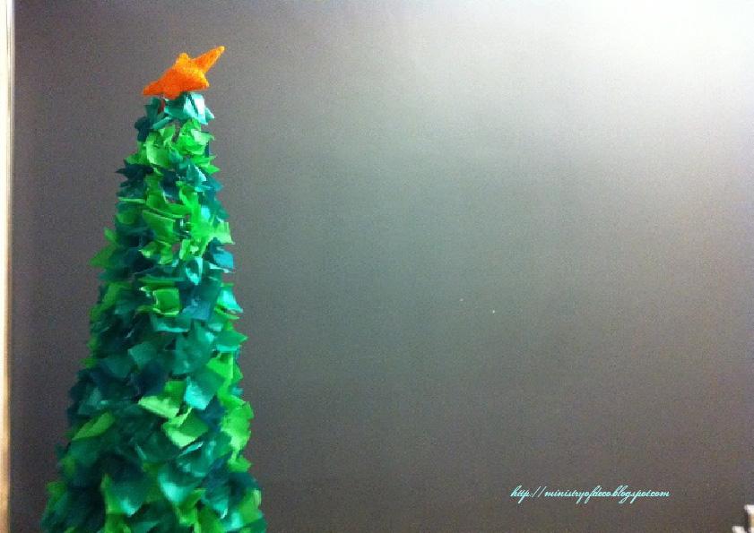 es un rbol original poco visto que cuesta poco de hacer y que resulta muy econmico y me queda poquita navidad ya que ensearos