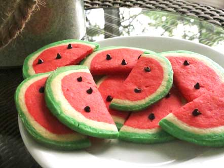 рецепт цветное печенье