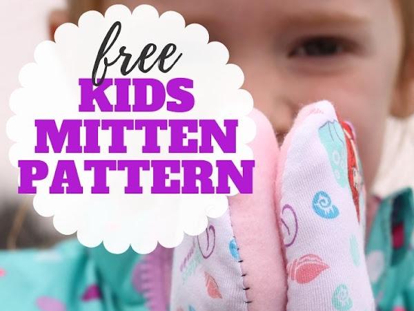 Easy Kids Mittens - Free Pattern