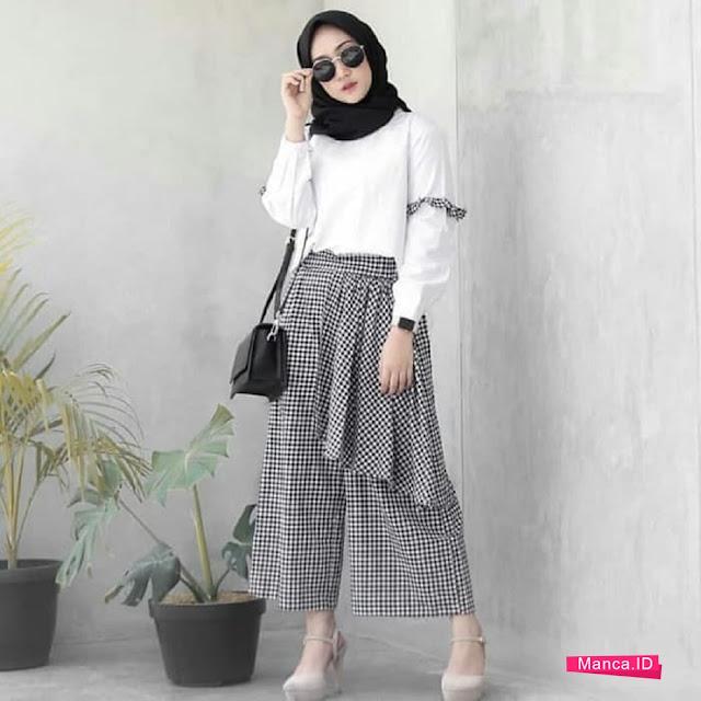 setelan hijab pakai rok