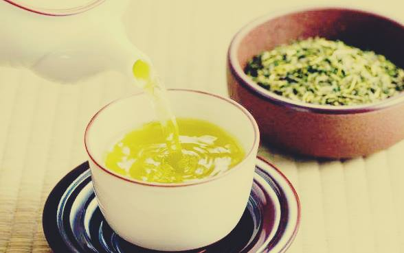 Gambar bentuk teh hijau asli dan menyehatkan