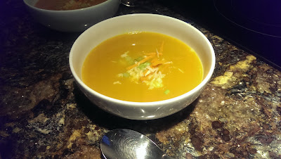 Carrot Soup from left over carrots.
