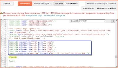 cara edit html blogger agar tidak error