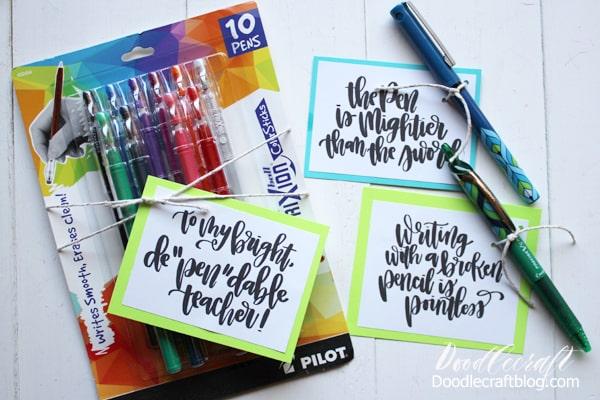 Pilot Pen Back-to-School Pen Pun Gifts!