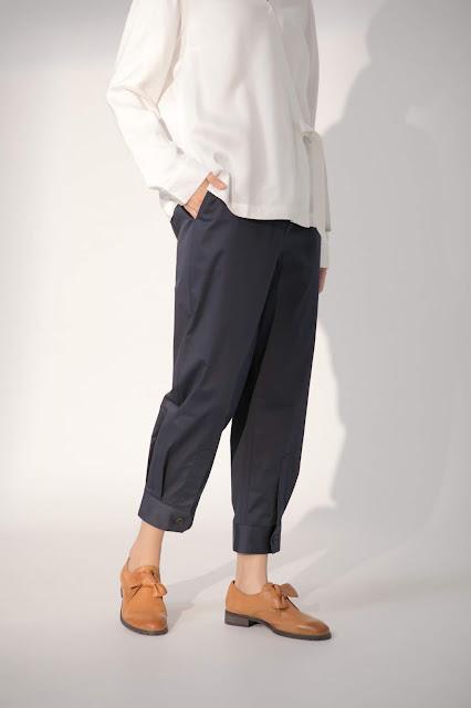 小巷日記襯衫褲口造型褲