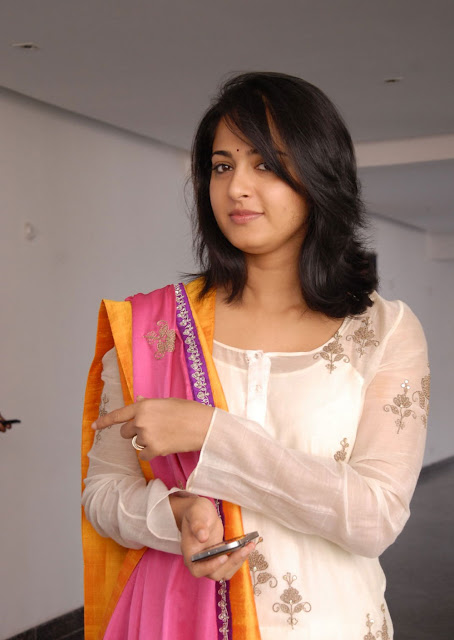 Anushka Shetty in Churidar Suit ~  Exclusive (8).jpg