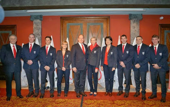 Monaco Olympic Team for the Sotchi Game presentation