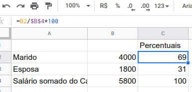 Calculando divisão proporcional