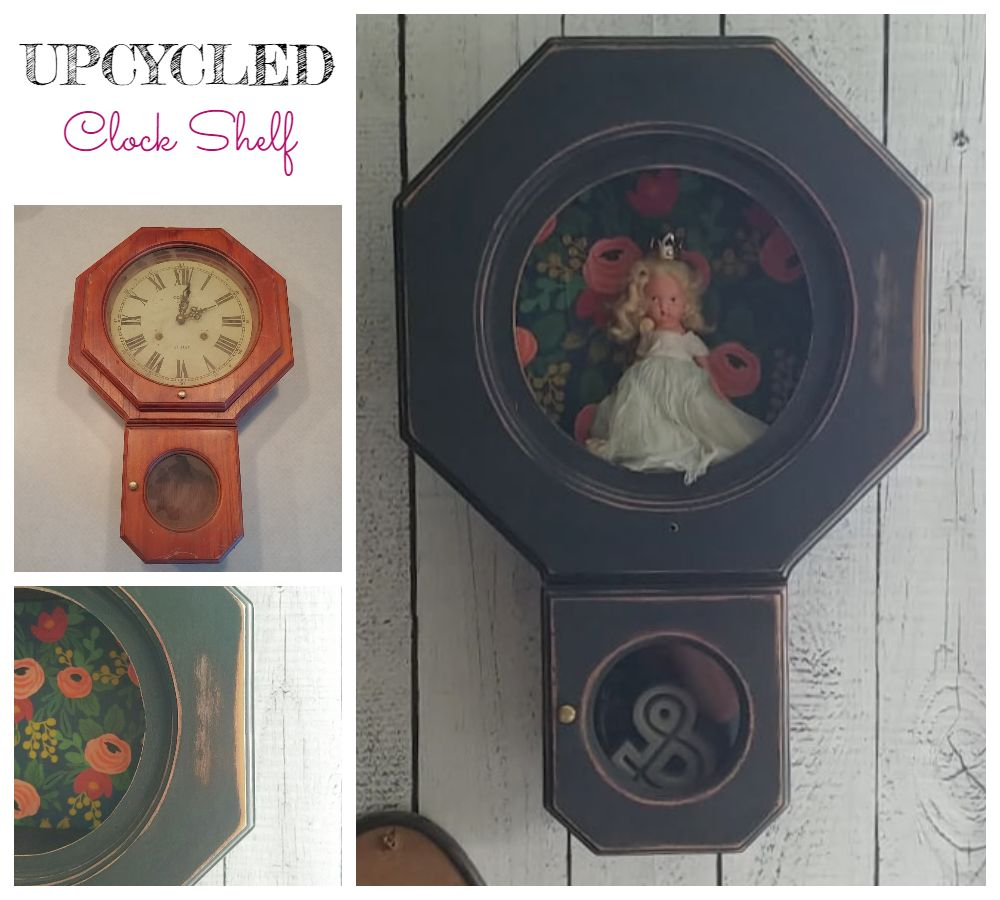 Upcycled Clock Shelf - 7 Days of Thrift Shop Flips - Day Five