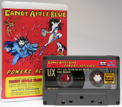 cassette comeback, candy apple blue, powers activate