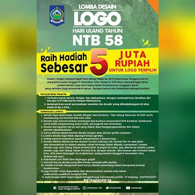 Lomba Desain Logo HUT NTB 58