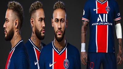 PES 2021 Faces Neymar Jr with Elbow Pad by SR