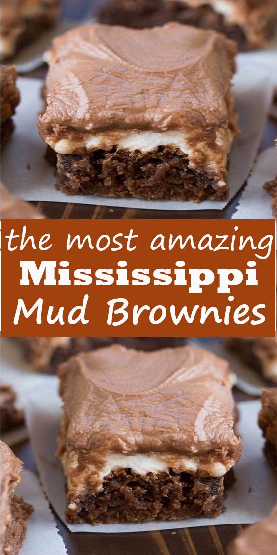 Mississippi Mud Brownies #Mississippi #Mud #Brownies #MississippiMudBrownies