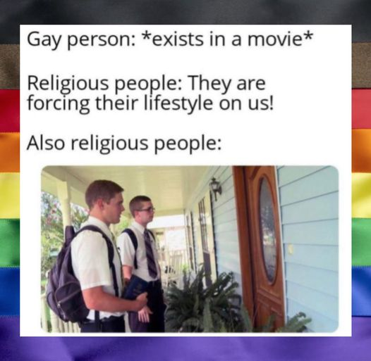 Gay people vs Religious people