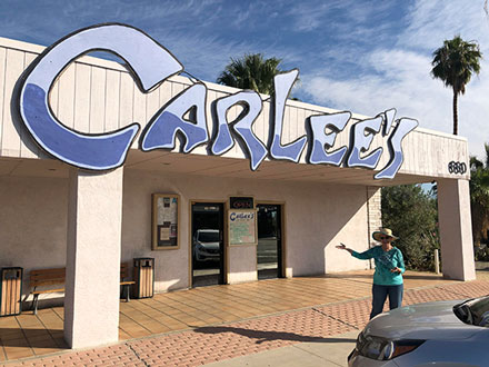 Carlee's is one of our favorite stops for food and great martinis in Borrego Springs (Source: Palmia Observatory)