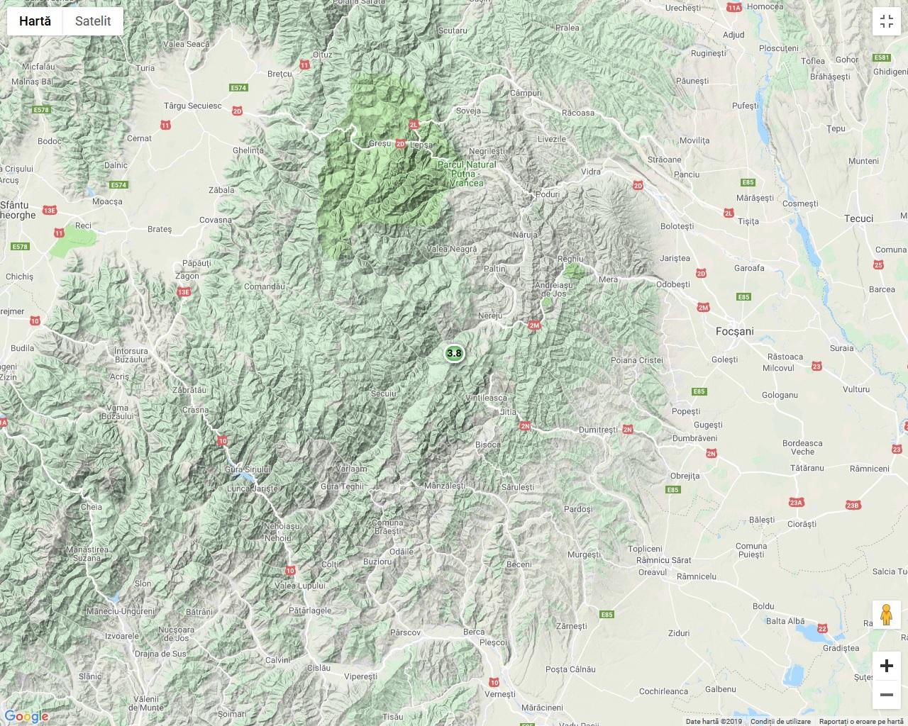 Cutremur Cu Magnitudinea De 3 8 Grade In Regiunea Vrancea