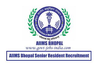 AIIMS Bhopal Senior Resident Recruitment