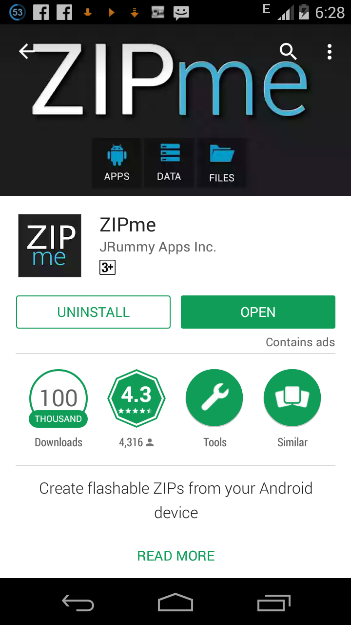 How to Create a Flashable Zip File on Android With ZIPme
