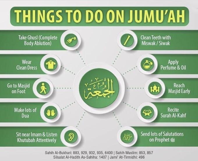 Friday prayer Sunnahs