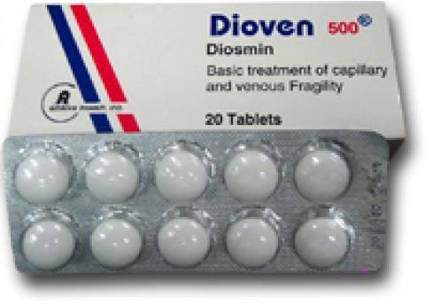 سعر ودواعي استعمال اقراص ديوفين Dioven للدوالي