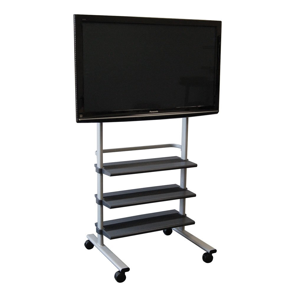 Mobile TV Stand with Wheels for LCD, Plasma or LED Monitor ...