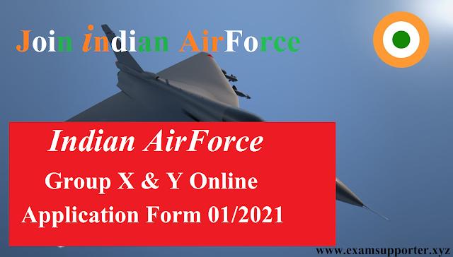 IAF Group X & Y online Form sarkariresult.com