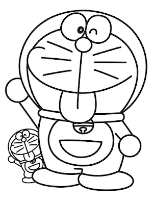 Gambar Mewarnai Doraemon - 1