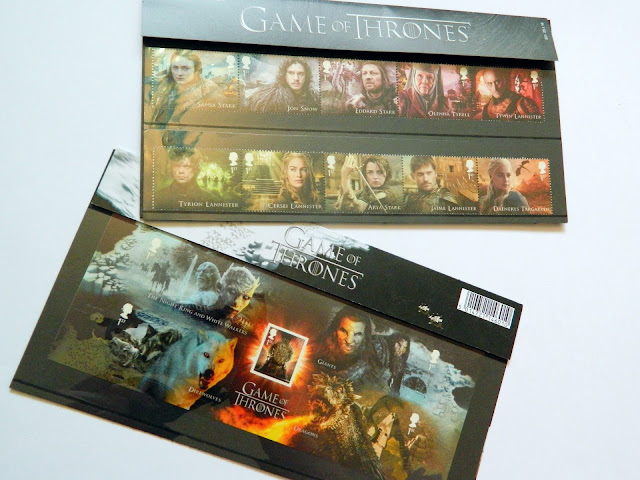 A photo showing a Game of Thrones Picture Stamps Set