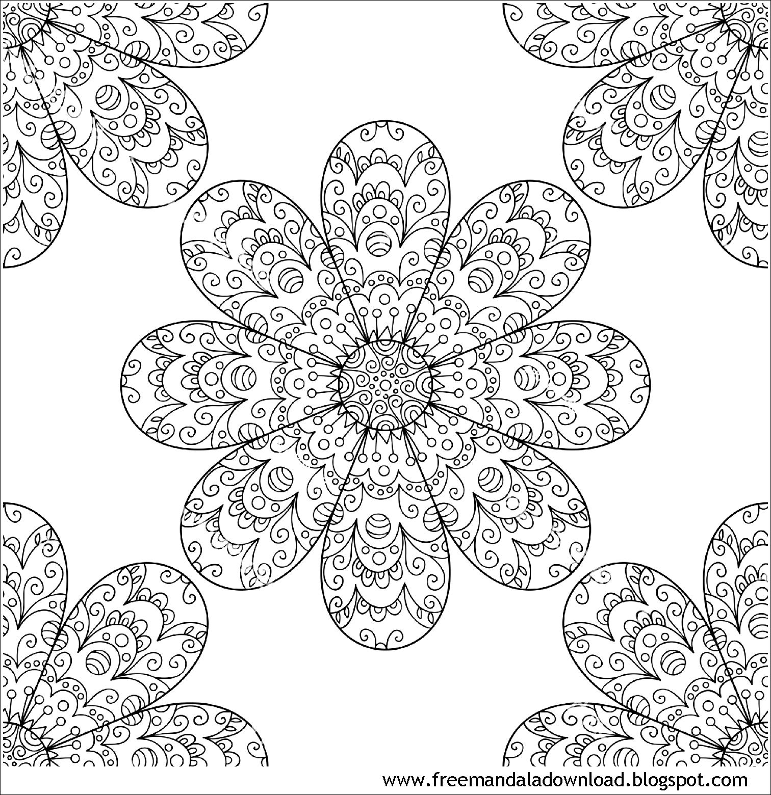 Really Hard Mandala Coloring Pages | Abstract coloring pages ... | 1560x1512