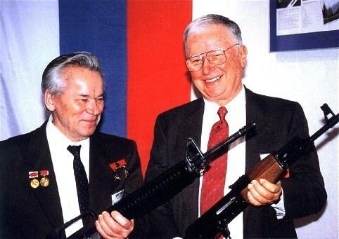 Eugene Stoner and Mikhail Kalashnikov