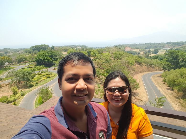 Enjoying the views at Anvaya Cove