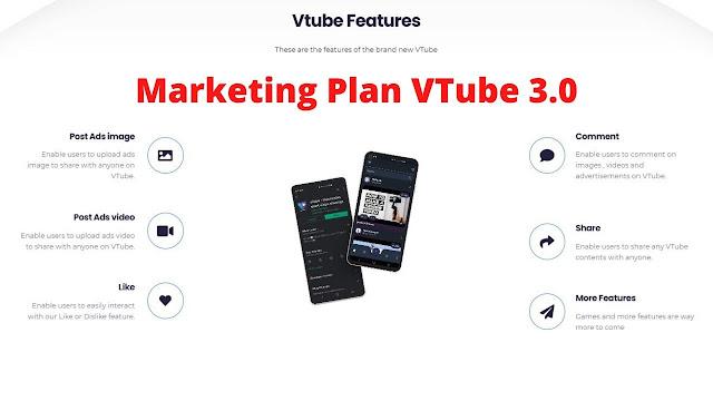 Penjelasan dan Cara Kerja Marketing Plan Vtube 3.0 Terbaru