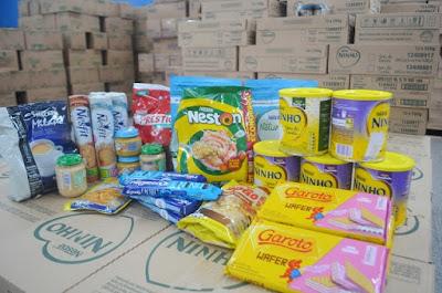 Prefeitura de Registro-SP recebe doação de 30 mil itens de alimentos da Nestlé