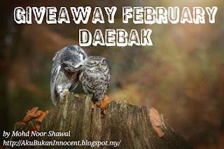 Pembongkaran Pemenang Giveaway February Daebak by Aku Bukan Innocent