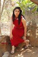 Telugu Actress Zahida Sam Latest Pos in Red Gown at RF Films New Movie Opening  0255.JPG