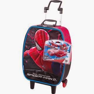 Mochila infantil escolar spiderman tema do filme novo