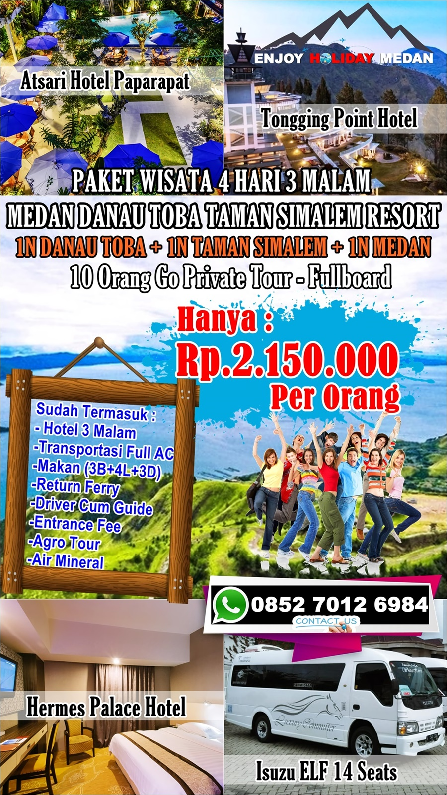 4D3N Medan Honeymoon Taman Simalem