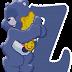 Abecedario con Amoniosita de los Care Bears. Care Bear Harmony Alphabet.