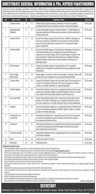 information-and-public-relations-department-jobs-2020-application-form