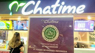 Chatime sudah mengantongi sertifikasi halal MUI dengan nomor sertifikat 00160103020320