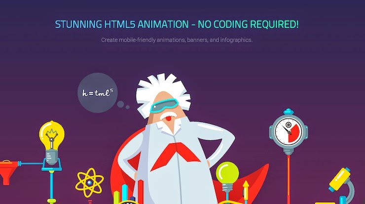 Animator, aplicación para crear animaciones HTML5