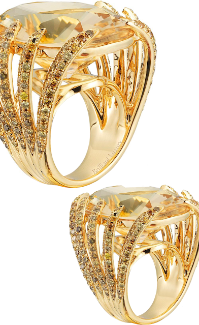 Paolo Costagli Heliodore golden hue gem cocktail ring #brilliantluxury