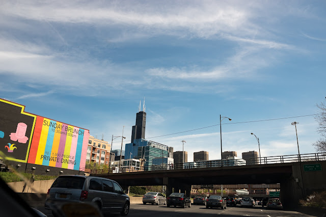 Chicago Skyline from Dan Ryan Expressway